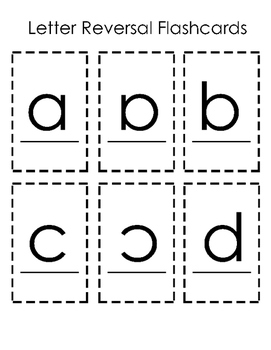 Letter Reversals Flashcards