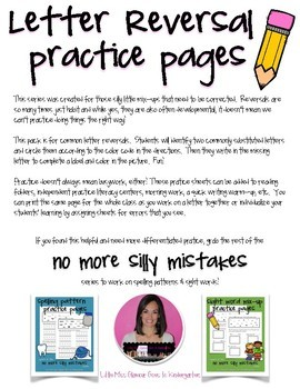 Letter Reversals {No More Silly Mistakes}