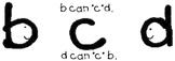 Letter Reversals b & d letter reversal sticker