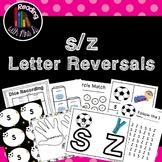 Letter Reversals s z