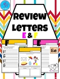 Letter Review. Letters E & F. Writing Letters. Uppercase &