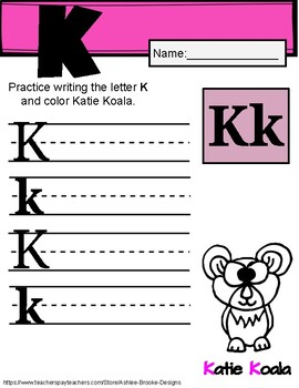 Letter Review. Letters K & L. Writing Letters. Uppercase & Lowercase letters