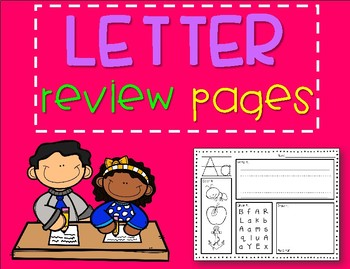 Letter Review Pages