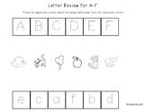 Letter Review Worksheets