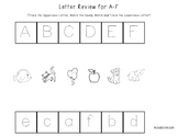 Letter Review Worksheets