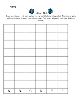 Letter Roll Learning Center