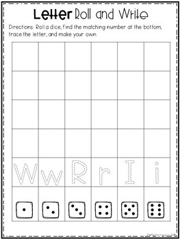 Letter Roll and Write