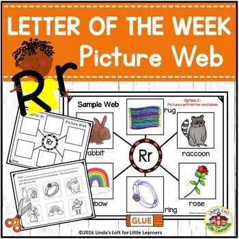 Letter Rr Beginning Sound Picture Web Activity