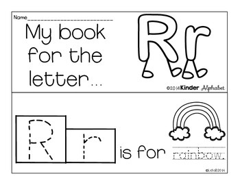 Letter Rr Booklet- Predictable Sentences