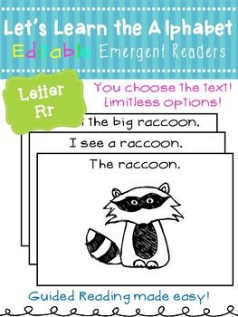 Letter Rr *Editable* Alphabet Emergent Reader