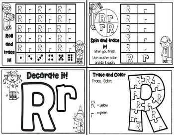 Letter Rr- Interactive Activities Booklet