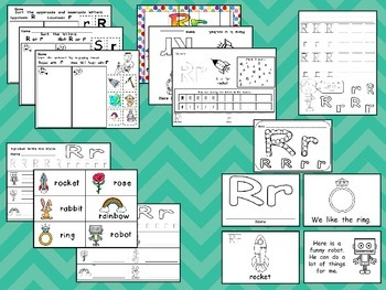 Letter Rr Mega Pack- Kindergarten Alphabet- Handwriting, Little Books, and MORE!