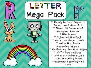 Letter Rr Mega Pack- Kindergarten Alphabet- Handwriting, L