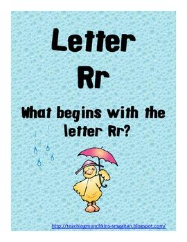 Letter Rr Mini Book
