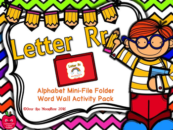 Letter Rr Mini-File Folder Word Wall Activity Pack
