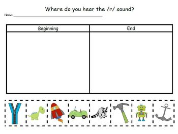 Letter Rr Phonics and Writing Pack