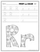 Letter Rr Printing and Pattern Coloring Worksheets