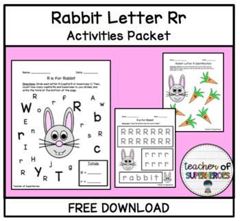 Letter Rr Rabbit Activities Packet