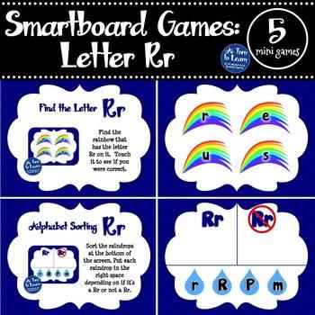 Letter Rr Smartboard Games (5 mini games) (Smartboard/Promethean Board)