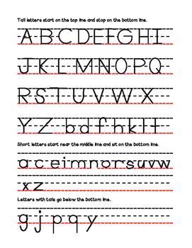 Letter Rubric