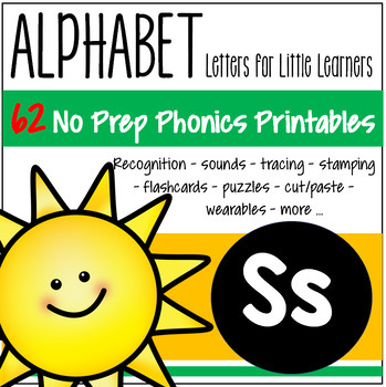 Alphabet S Letter of the Week Phonics Recognition, Sound, Tracing & Craftivities