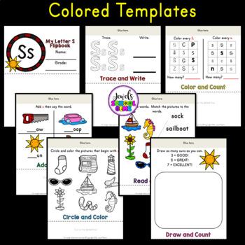 Letter S Alphabet Flip Book (Alphabet Interactive Notebook Activities)