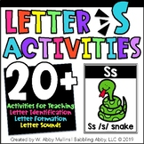 Letter S Alphabet Activities   Recognition, Formation, and Sounds