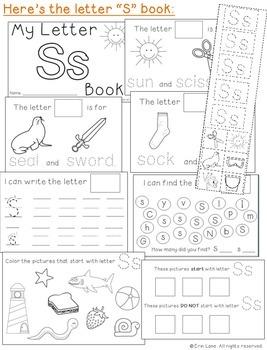 Letter S: Alphabet Activity Book