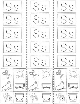 Letter S: Alphabet Activity Book