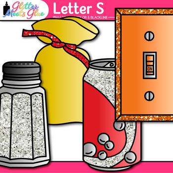 Letter S Alphabet Clip Art {Teach Phonics, Recognition, and Identification}