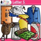 Letter S Alphabet Clip Art | Teach Phonics, Recognition, and Identification