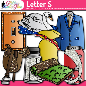 Letter S Alphabet Clip Art {Teach Phonics, Recognition, an