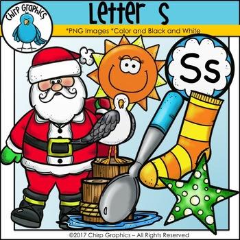 Letter S Alphabet Clip Art Set - Chirp Graphics