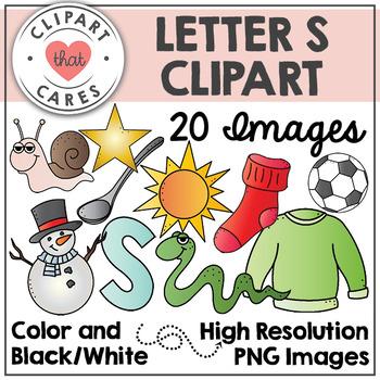 Letter S Alphabet Clipart by Clipart That Cares
