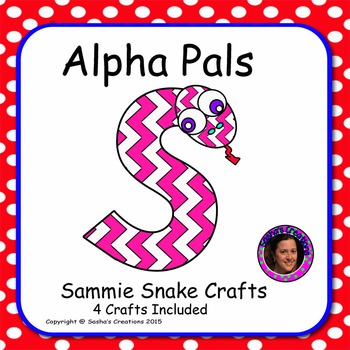 Letter S Alphabet Craft: Sammie Snake  Alpha Pal