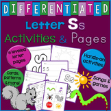 Letter S Unit - Differentiated Letter Writing Pages & Activities
