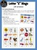 Letter S Bingo Game (8 Squares per Board) Vocabulary Building