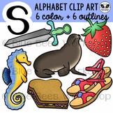 Letter S Clip Art Alphabet / Beginning Sound S