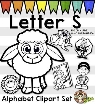 Alphabet Clip Art: Letter S Phonics Clipart Set - Clip Art