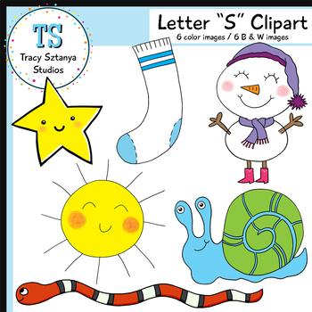 "Letter ""S"" Clipart Set {Tracy Sztanya Studios}"