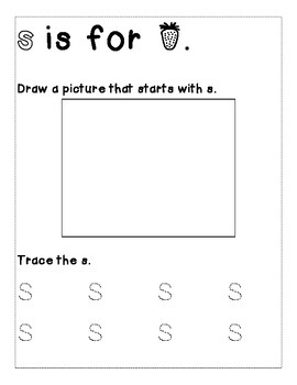 Letter S Color and Trace AlphaBook