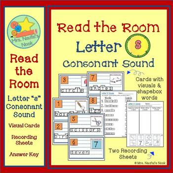 Alphabet Read the Room Letter S