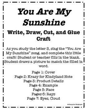 Letter S Craft: You Are My Sunshine