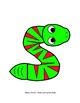 Letter S Craftivity - Snake - Zoo Phonics Inspired - Color & BW Versions