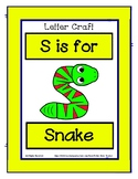 Letter S Craftivity - Snake - Zoo Phonics Inspired - Color