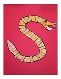 Letter S Cut/Paste Craft Template - S is for Snake!