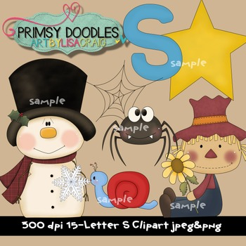 Letter S Early Learning Clipart