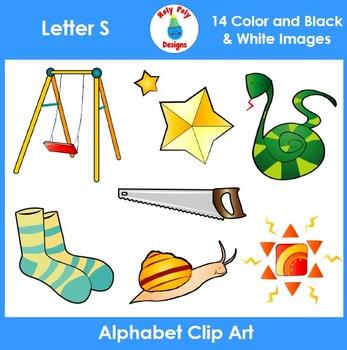 Letter S Phonics Clip Art Set
