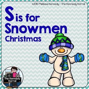 Letter S is for Snowmen {Christmas}