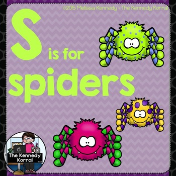 Letter S is for Spiders {Halloween}